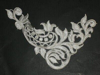 Ivory venise lace applique big approximately 7.5 wide x 6 5 long