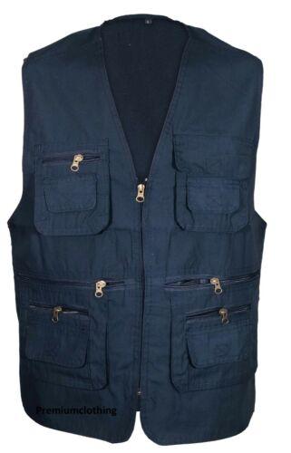 Mens Summer Waistcoat Lightweight Gilet Jacket Fishing Hunting Safari Coat TOP