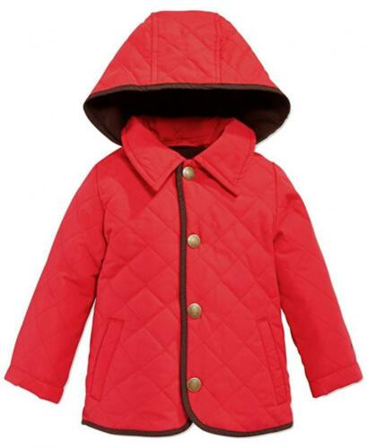 London Fog Infant Boys Red Quilted Barn Jacket Size 0//3M 6//9M 12M 18M 24M