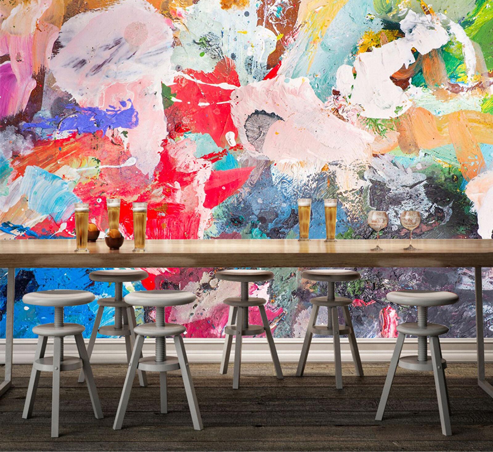 3D Farbe Gemalt Fototapeten Wandbild Fototapete Bild Tapete Familie Kinder887