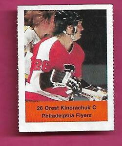 RARE-1974-75-LOBLAWS-FLYERS-OREST-KINDRACHUK-ROOKIE-STICKER-INV-C0348