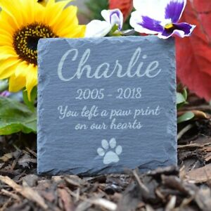Memorial-Plaque-For-Dog-Personalised-Dogs-Grave-Stone-Square-Slate-Marker-Gift