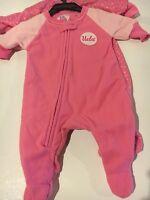 2 Toddler Girls 6-9mo Pajamas Ucla Bruins Pink Zip Up Footed Sleeper Fleece Pjs