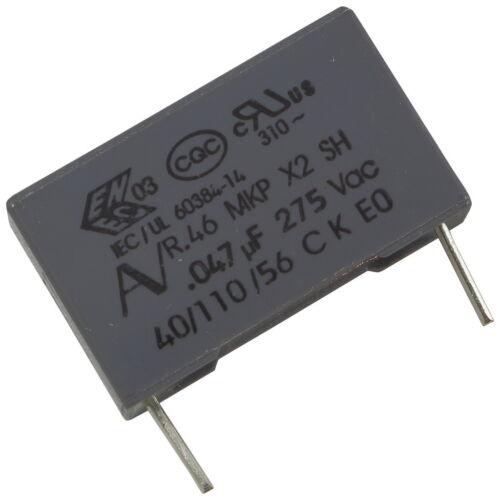 5 KEMET R46KI24700001M MKP-Funkentstörkondensator 275V 47nF RM15 856644
