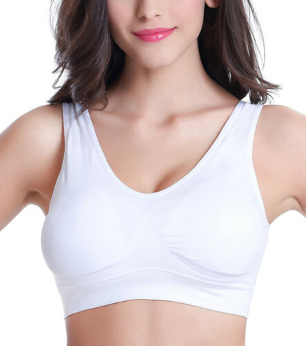 Women/'s Seamless Sports Crop Tops Bra Stretch Padded Fitness Underwear Yoga Bras