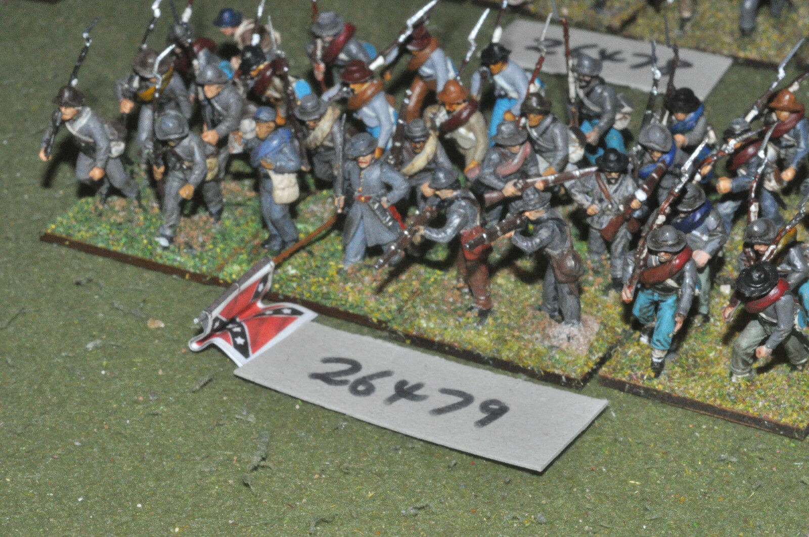 25mm ACW   confederate - regt. (plastic) 32 figures - inf (26479)