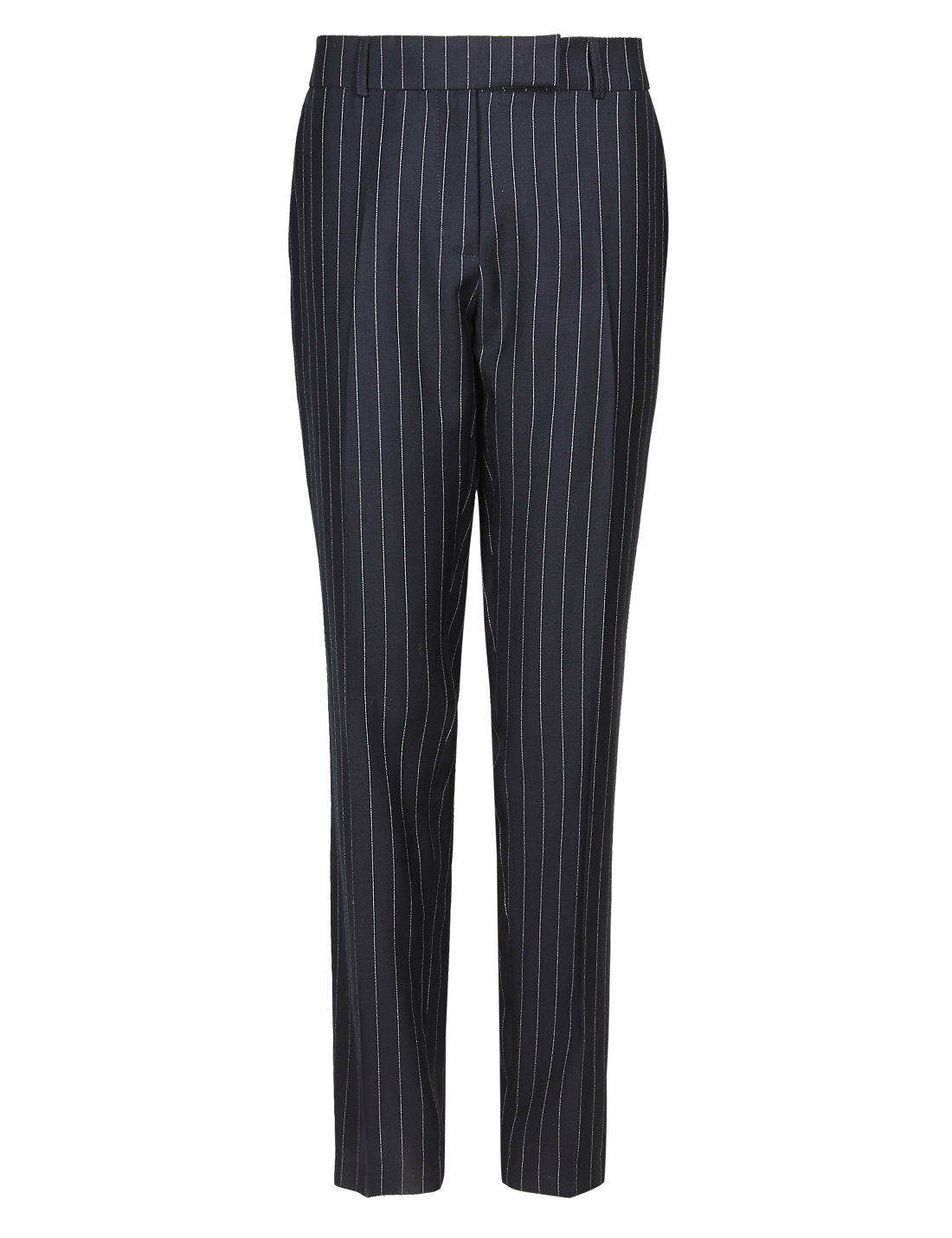 New M&S Best Of British Navy Pure Pure Pure New Wool Pinstripe Trousers Sz UK 10 | Mama kaufte ein bequemes, Baby ist glücklich