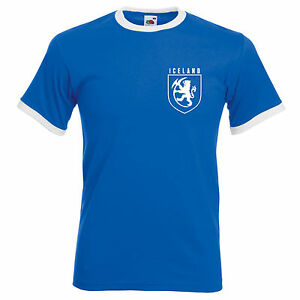 1edae30ba Retro Iceland Football T Shirt World Cup Russia Supporter Men Women ...