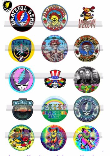 Grateful Dead Marching Bears Jerry Garcia15-150 Precut  Bottle Cap Images