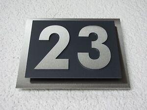 "B-Ware Metafranc Hausnummer /""7/"" Aluminium Alu weiß 125 mm"