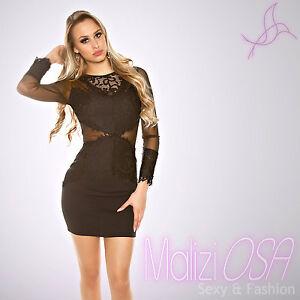 cheap for discount 8ff54 5b512 Dettagli su Vestito donna pizzo mini abito elegante tubino miniabito  vestitino sera cocktail