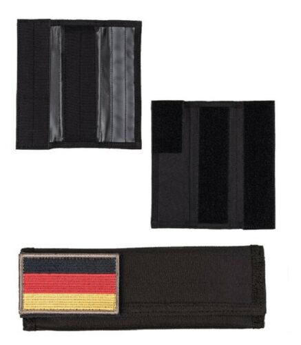 Noir Tactical épaulettes Sac à Dos Paire