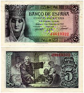 BILLETE-5-PESETAS-ESTADO-ESPANOL-13-FEBRERO-1943-SERIE-J-AU-SC