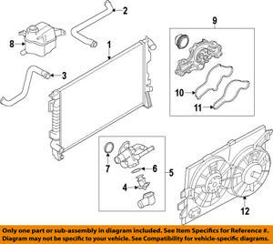 image is loading lincoln-ford-oem-07-09-mkz-radiator-cooling-