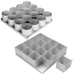Alan Silverwood Silver Anodised Multi Mini Cake Pan Set Non-Stick Round / Square