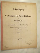 Bern - Universität 1866 - G. Rettig - Airia im Philebus Plato kein Pantheist
