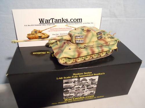 VEHICULE MILITAIRE WAR TANKS 1 48 CHAR TIGRE II TOURELLE  HENSCHEL  MINT IN BOX