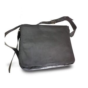Image is loading SHOULDER-BAG-MAN-MESSENGER-GENUINE-LEATHER-POSTMAN-BLACK- 7db6f730d94b9