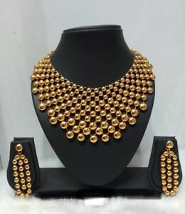 Indian-Bollywood-Ethnic-Gold-Plated-Fashion-Wedding-Party-Jewelry-Necklace-Set
