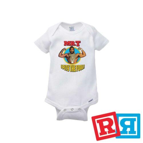 Mr T Baby Onesie A Team Rocky Balboa Boxing Bodysuit Gerber Organic Cotton