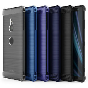 Details about Sony Xperia XZ3 Carbon Fibre TPU Silicone Gel Case Edge  Protection Phone Cover
