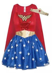 Detalles De Xl 20 22 Mujer Maravilla Elegante Vestido Damas Superhéroe Disfraz Talla Grande Ver Título Original