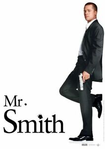 Affiche-120x160cm-MR-amp-MRS-SMITH-2004-Brad-Pitt-Angelina-Jolie-TBE