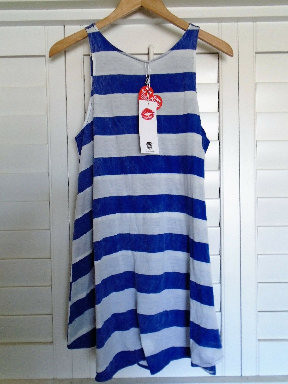 New With Tags WILDFOX COUTURE Rugby Stripe Tank Dress Swimsuit Cover up Small S