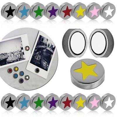 Präsentationsbedarf Gutherzig Stern Magnete Rund Ø 10mm Magnetisch Haftmagnet Farbig Für Pinnwand Kühlschrank Büro & Schreibwaren
