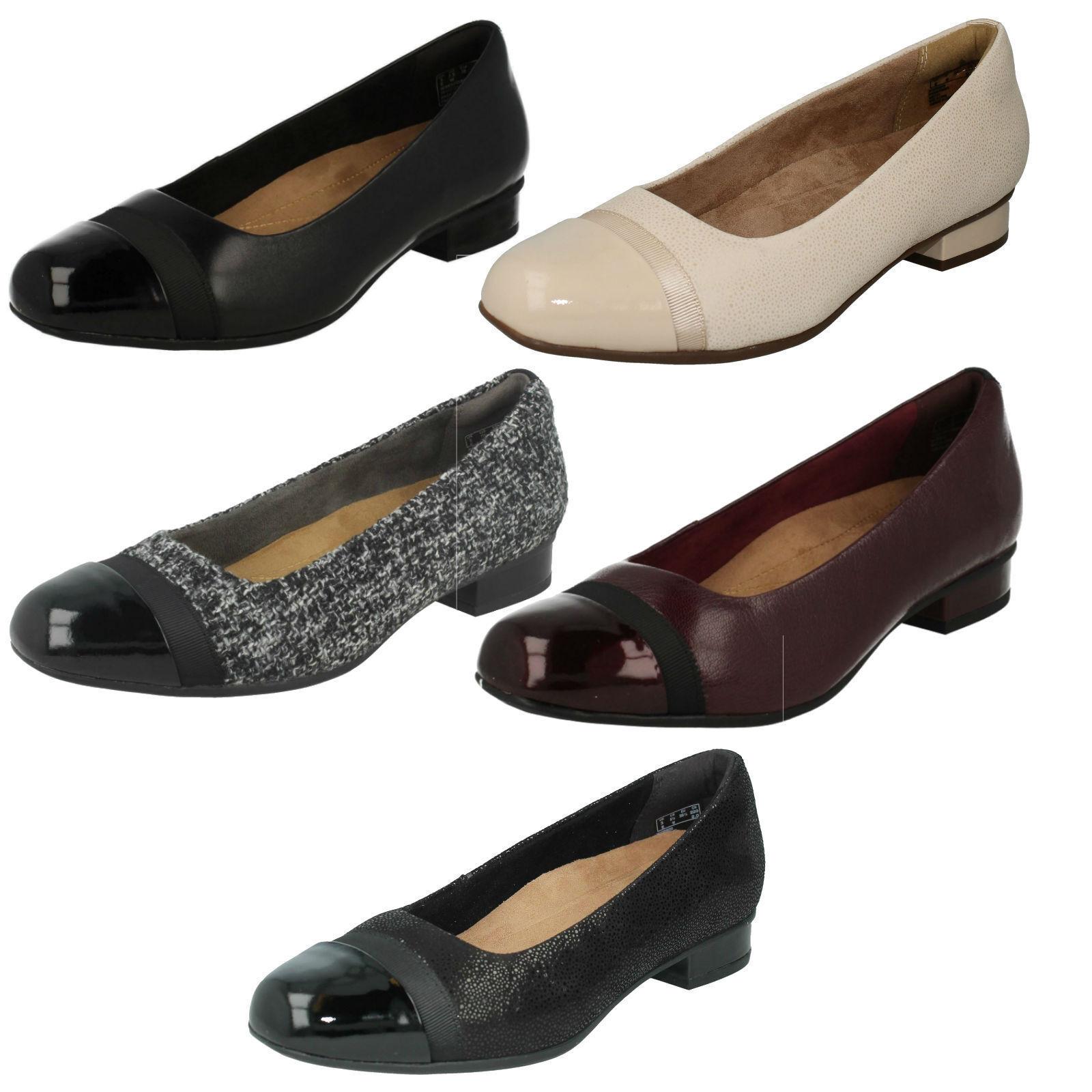 Damen Keesha Rosa Leder Slipper Schuhe E Passform Clarks