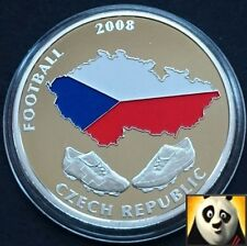 2008 40mm UEFA EURO Football Championship Coloured Czech Republic Coin Medal