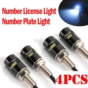 4x-White-LED-Motorcycle-Car-Number-License-Plate-Bolt-Screw-Light-Lamp-12V