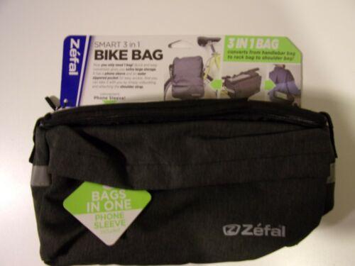 Zefal Bike Bag 3 in 1 Handlebar Rack Bag Shoulder Bag