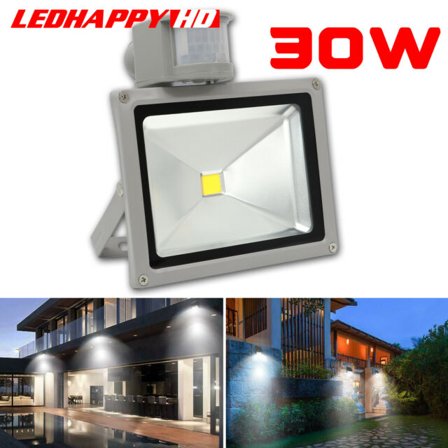 (IP65 Waterproof)20W Led Outside Flood Light with PIR Led 6000K Cool White