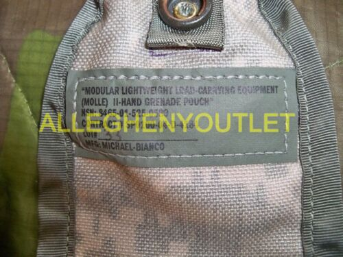 Lot of 2 US Military Hand Grenade Utility Pouch ACU Camo Molle II Good Condition