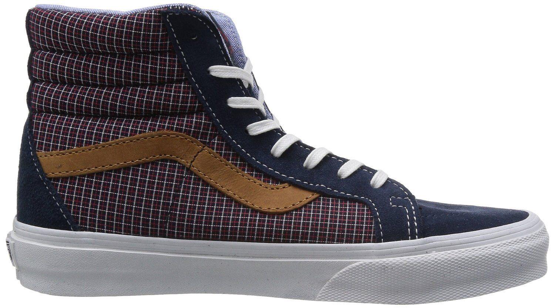 NEW Vans SK8-HI REISSUE (C&P) CA (C&P) REISSUE Dress Blues Men's Skate Shoes Size 7.5 US PLAID 6dae41