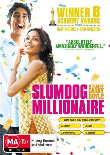 1 of 1 - Slumdog Millionaire (2008) Dev Patel - NEW DVD - Region 4