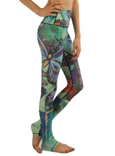 Woman wide belt Yoga legging dragonfly printed legging S-3XL Yoga Legging