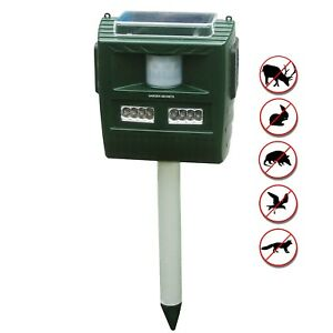 Details about GARDEN SECRETS Solar Ultrasonic Animal Repellent, Raccoon  Skunk Deer repellent
