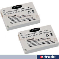 2pcs //1200mAh Battery for NB-5L NB5L for Canon IXUS 800 SD890 SD950 SD990 SD900