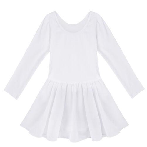 US Toddler Girls Gymnastics Leotards Dress Ballet Dance Tutu Dancewear Costume