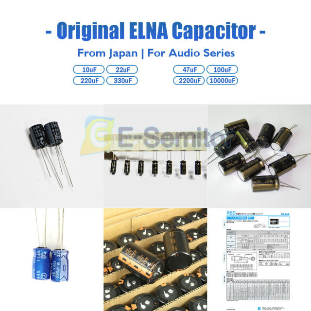 10x 10UF 50V ELNA RADIAL ELECTROLYTIC CAPACITORS 5X11MM 50v10uf