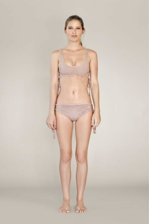 Acacia Swimwear Femmes Murray Crochet Bikini Bas Pieds Nus S Neuf