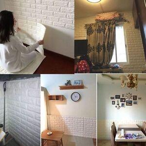 3D Ziegelstein-Muster Tapete Schlafzimmer Wohnzimmer Wand ...