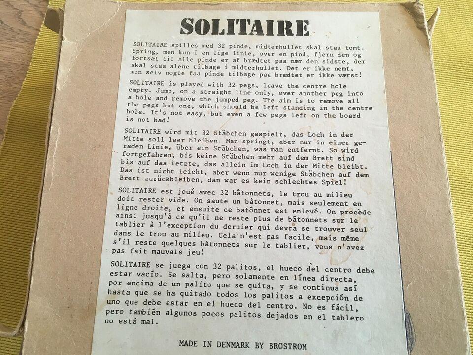 Solitaire, Teaktræ spil, brætspil