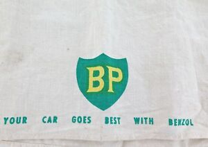 VINTAGE-SCARCE-BP-YOUR-CAR-GOES-BEST-WITH-BENZOL-LARGE-LINEN-TEA-TOWEL
