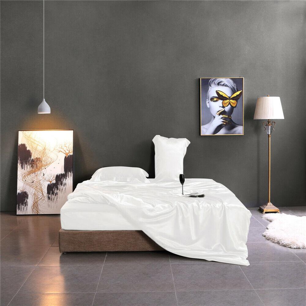 19 Momme Seide Bettbezug Maulbeerseide Seidenbettwäsche weiß Schwarz 135x200