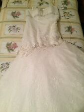 Oleg Cassini Bridal Wedding Dress NEW with tags sleeveless Ivory size 10 bride