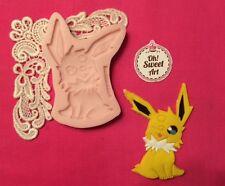 Pikachu Pokemon silicone mold fondant cake decorating wax soap food  jewelry FDA
