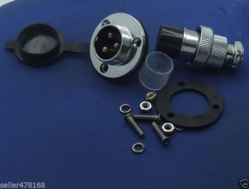 GX20 3-Pin Aviation plug Disc flange XLR Radio 19mm 20mm Panel mount waterproof